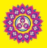 Teste padrão indiano colorido Foto de Stock Royalty Free