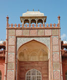 Estilo islâmico do túmulo de Akbar. Imagem de Stock
