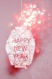 Estilo japonés de la Feliz Año Nuevo y estilo chino Imagen de archivo