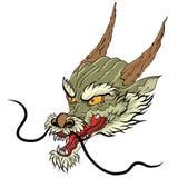 Estilo japonês da tatuagem velha do dragão Imagens de Stock Royalty Free