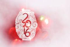 Estilo japonês de ano novo feliz 2016 e estilo chinês Imagens de Stock Royalty Free