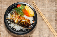 Estilo japonês do alimento Fotografia de Stock