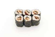 estilo japonês do alimento do sushi do maki da enguia Fotos de Stock