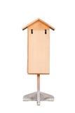 Estilo japonês do sinal de madeira vazio isolado no fundo branco Imagens de Stock