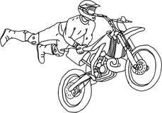 Estilo libre de Moto Fotografía de archivo