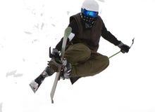 Estilo libre. Esquí. Imagen de archivo libre de regalías