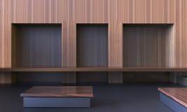 Estilo limpo vazio moderno simples da folhosa da sala e do local de trabalho/arte mínima contemporânea imagens de stock