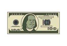 Estilo linear linear de 100 dólares Dinero de los E.E.U.U. Dinero en circulación americano Imagen de archivo