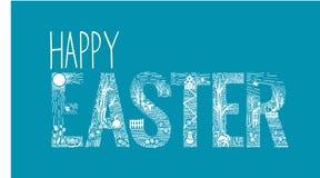 Estilo linear de la inscripción de Pascua Fotos de archivo libres de regalías