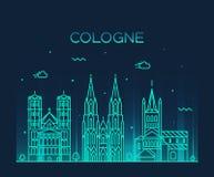 Estilo linear del ejemplo del vector del horizonte de Colonia Imagen de archivo