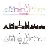 Estilo linear del horizonte de Adelaide V2 con el arco iris Fotos de archivo