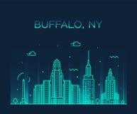 Estilo linear del vector de Nueva York los E.E.U.U. del horizonte del búfalo libre illustration
