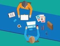 Estilo liso do conceito do vetor do espaço de trabalho Imagens de Stock