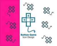 Estilo liso do projeto do ícone do jogo do botão para a aplicação ou a Web ilustração do vetor