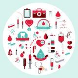 Estilo liso médico do ícone Ilustração do vetor Imagens de Stock Royalty Free