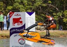 Estilo livre a ação do conluio do esqui do jato Imagem de Stock Royalty Free