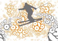 Estilo livre do esqui Fotos de Stock Royalty Free
