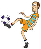 Estilo livre do futebol Foto de Stock