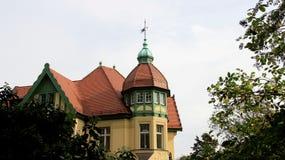 Estilo local del edificio viejo viejo de la ciudad en Cottbus Alemania Imagenes de archivo