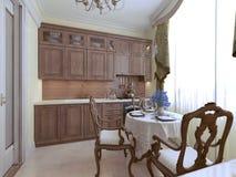 Estilo luxuoso do inglês da cozinha Fotos de Stock