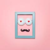 Estilo mínimo Projeto da arte Moderno do bigode Homem doce do moderno Fotos de Stock Royalty Free