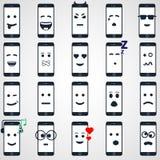 Estilo móvil del iphon de la colección del smartphone del icono Fotografía de archivo libre de regalías
