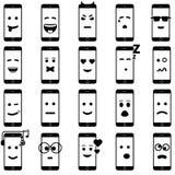Estilo móvil del iphon de la colección del smartphone del icono Imagen de archivo libre de regalías