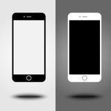 Estilo móvil del iphon de la colección del smartphone del nuevo icono Fotografía de archivo