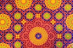 Estilo marroquí del mosaico islámico útil como fondo imágenes de archivo libres de regalías