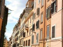 Estilo mediterráneo de la calle en Roma Imagenes de archivo