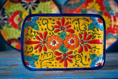 Estilo mexicano de Talavera da cerâmica de México imagem de stock