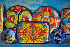 Estilo mexicano de Talavera da cerâmica de México fotos de stock royalty free