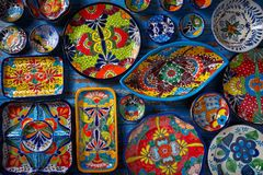 Estilo mexicano de Talavera da cerâmica de México foto de stock royalty free