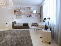 Estilo minimalista da sala adolescente Imagens de Stock Royalty Free