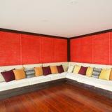 Estilo moderno asiático de la sala de estar Fotografía de archivo libre de regalías