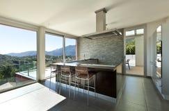 Estilo moderno, cozinha Fotografia de Stock Royalty Free