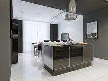 Estilo moderno da cozinha Imagens de Stock