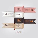 Estilo moderno de la cinta de la plantilla del diseño web. Imagenes de archivo