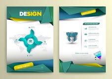 Estilo moderno de la plantilla de la página del diseño del vector Imagenes de archivo