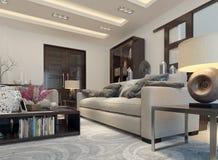 Estilo moderno de la sala de estar Imagen de archivo libre de regalías