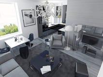 Estilo moderno de los apartamentos de lujo Imágenes de archivo libres de regalías