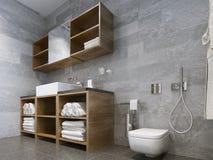 Estilo moderno del cuarto de baño Imágenes de archivo libres de regalías