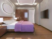 Estilo moderno del dormitorio brillante Imagen de archivo