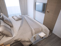 Estilo moderno del dormitorio de huésped Imagen de archivo