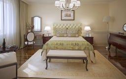 Estilo moderno del dormitorio elegante Fotografía de archivo