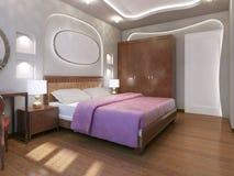 Estilo moderno del dormitorio fabuloso Fotografía de archivo libre de regalías