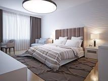 Estilo moderno del dormitorio grande imagen de archivo libre de regalías