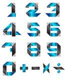 Estilo moderno del número Imágenes de archivo libres de regalías