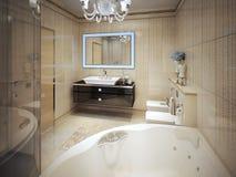 Estilo moderno do banheiro caro Fotos de Stock