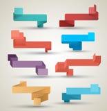 Estilo moderno do origâmi da coleção das fitas Foto de Stock